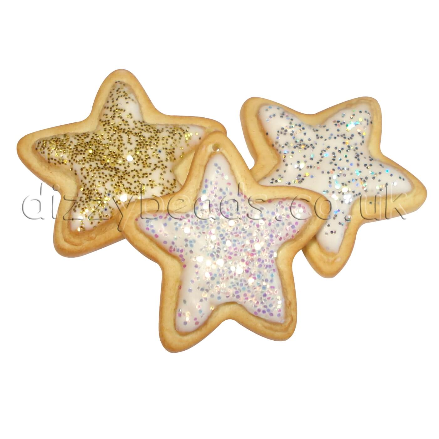 Fimo Christmas Star Cookie Beads